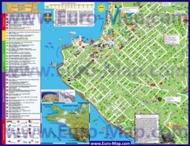 Туристическая карта Анапы с отелями и достопримечательностями