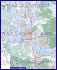 Подробная карта города Архангельск