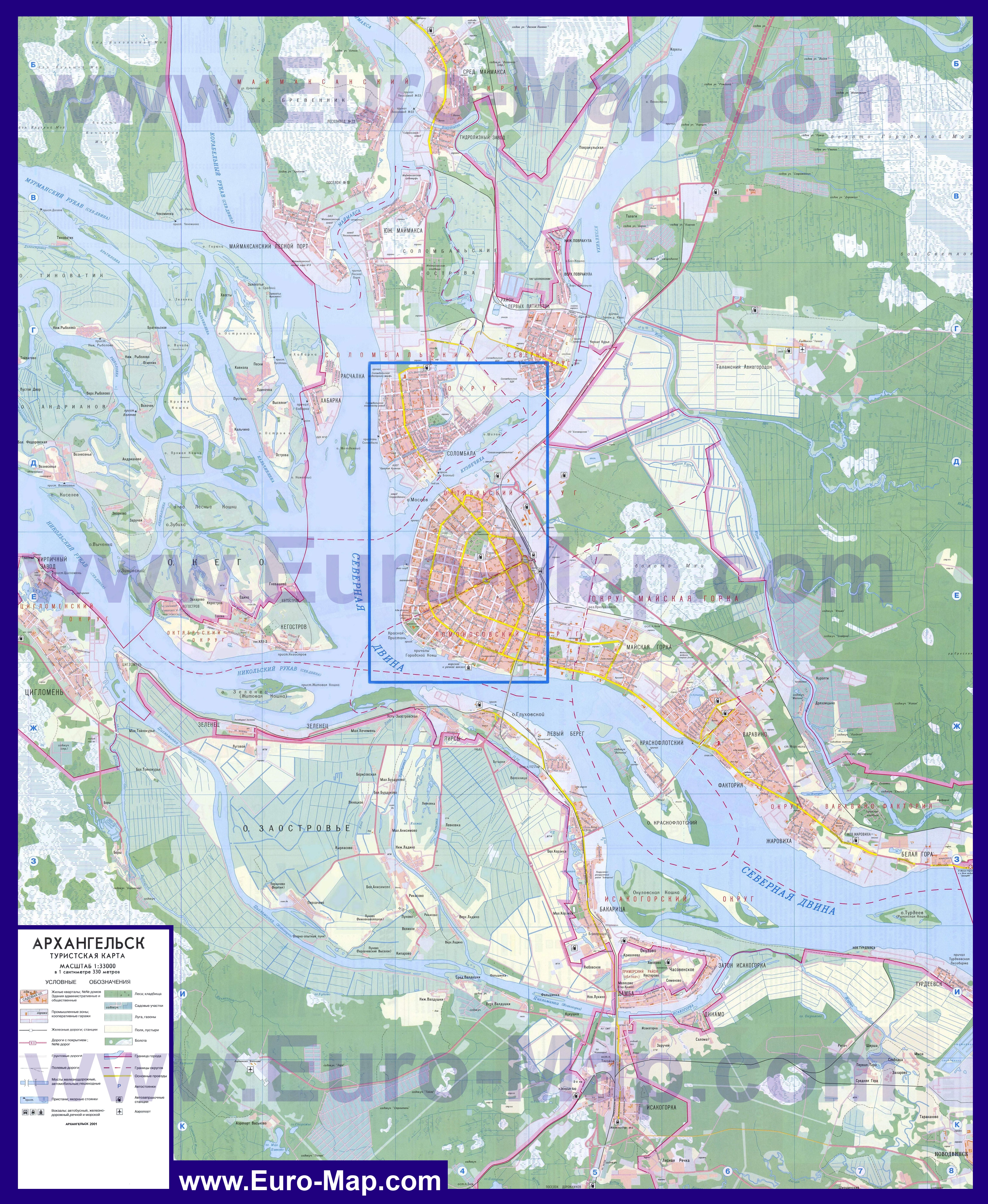Карта России с городами - Подробные карты городов с ...