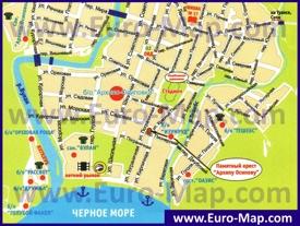 Туристическая карта Архипо-Осиповки с отелями и базами отдыха