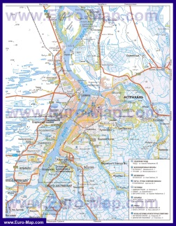 Автомобильная карта дорог Астрахани