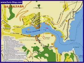 Туристическая карта бухты Балаклава