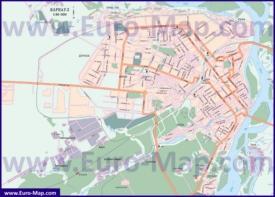 Автомобильная карта дорог Барнаула