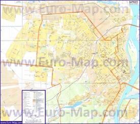 Подробная карта города Барнаул
