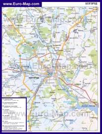 Автомобильная карта дорог Белгорода