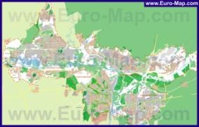 Подробная карта города Брянск с районами