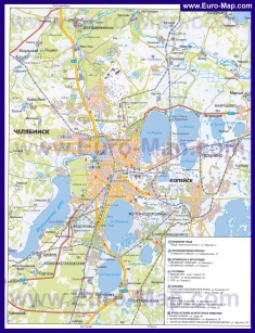 Автомобильная карта дорог Челябинска
