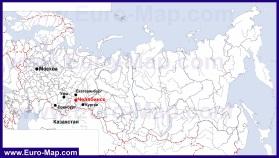 Челябинск на карте России