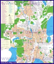 Карта маршрутов транспорта Челябинска
