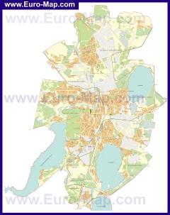 Подробная карта города Челябинск