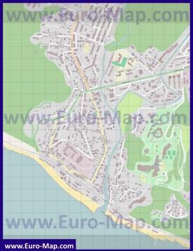 Подробная карта поселка Дагомыс