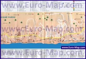 Туристическая карта Дагомыса с гостиницами