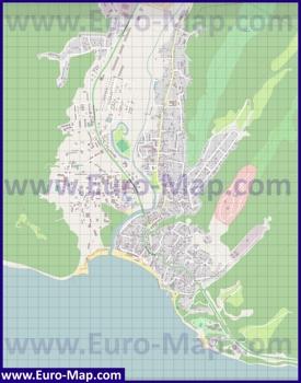 Подробная карта поселка Джубга