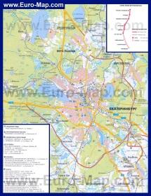 Автомобильная карта дорог Екатеринбурга