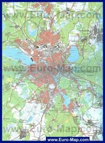 Карта Екатеринбурга с окрестностями