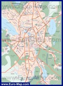Карта города Екатеринбург