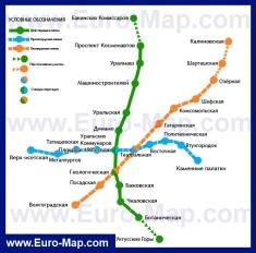 Карта метро Екатеринбурга
