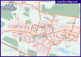 Автомобильная карта дорог Элисты