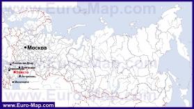 Элиста на карте России