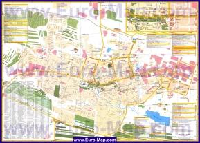 Подробная карта города Элиста