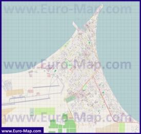 Подробная карта города Ейск