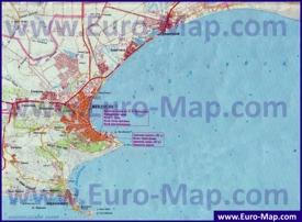 Карта Феодосии с пригородами