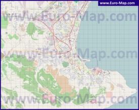 Подробная карта города Феодосия
