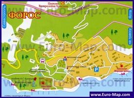Карта поселка Форос