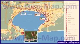 Карта Геленджика с отелями, ресторанами и барами