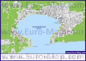 Туристическая карта Геленджика с базами отдыха и санаториями