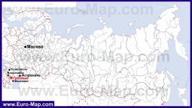 Грозный на карте России