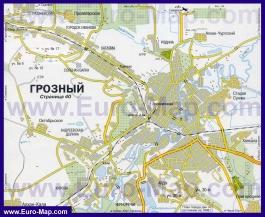 Карта дорог Грозного