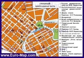 Карта достопримечательностей Грозного