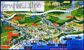 Подробная туристическая карта города Гурзуф