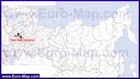 Гусь-Хрустальный на карте России