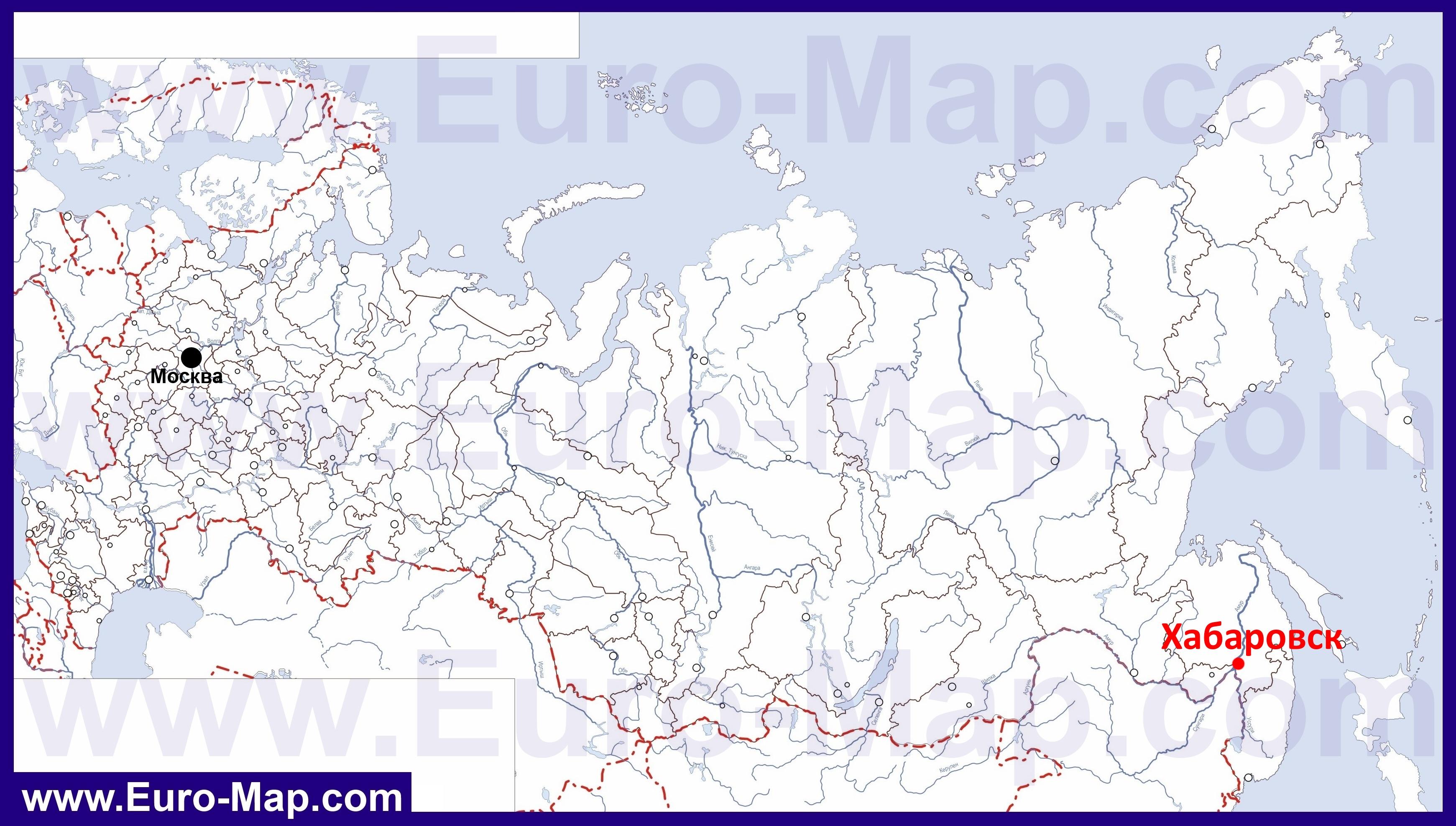 Карта Хабаровска Улицами Номерами Домов