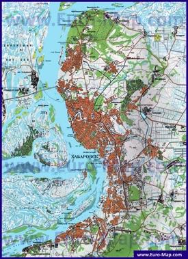 Карта Хабаровска с окрестностями