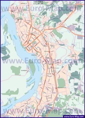 Подробная карта города Хабаровск