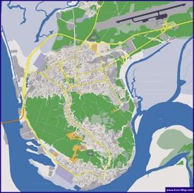 Подробная карта города Ханты-Мансийск
