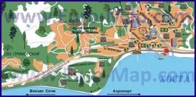 Туристическая карта Хосты