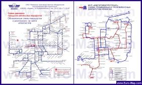 Карта маршрутов транспорта Ижевска