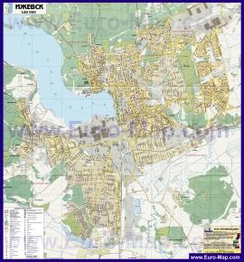 Карта Ижевска онлайн с улицами Номера домов