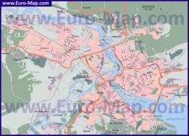 Подробная карта города Иркутск