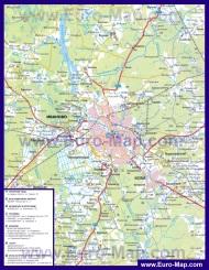 Автомобильная карта дорог Иваново