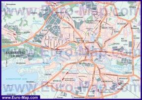 Автомобильная карта дорог Калининграда