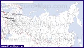 Калининград на карте России