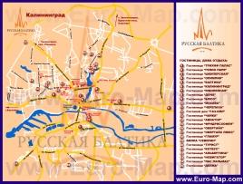 Карта гостиниц Калининград