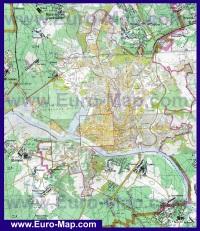 Подробная карта города Калуга