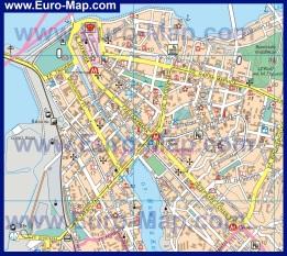 Подробная карта центра Казани