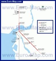 Схема - карта метро Казани